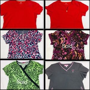 Bundle of different Brand Scrub Tops all Size: L